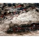 Sous le murmure—Collagraphie, acrylique et crayon