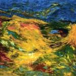 Traverses—1992—Acrylique et crayon sur toile—123 x 188 cm