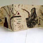 Zocalo, 25 ans-Collagraphie, pointe sèche et collage sur papier-15 x 76 cm