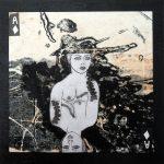 Petit chelem no.2, 2017-Collagraphie et collage sur papier, marouflé sur bois-15 x 15 cm