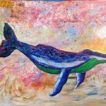 Bestiaire gaspésien no. 1, 2019 Acrylique et pastel gras sur toile 91,5 x 126 cm