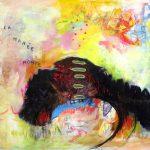 La marée monte, 2019 Acrylique, crayons et pastel gras sur toile 76 x 101,5 cm