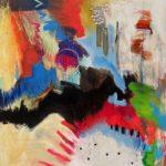 La lettre A, 2019 Acrylique et pastel gras sur toile 96 x 88 cm