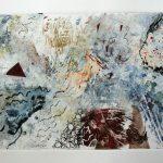 Là où le vent nous mène, 2020 - Techniques mixtes sur papier - 38 x 76 cm